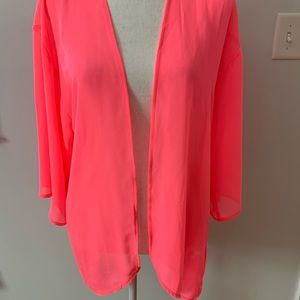 H&M Bright Pink Sheer Cover-up